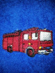 FIRE ENGINE PERSONALISED TOWEL SET